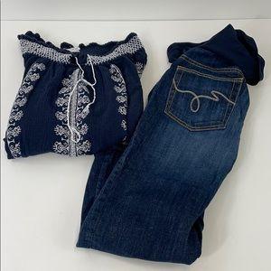 Maternity outfit- Capri pants size S shirt size M